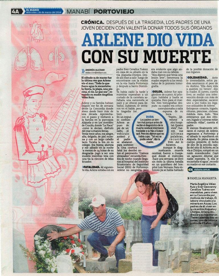 Crónica Arlene por Andrés Alcívar